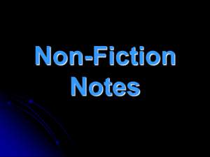 Non-Fiction Notes