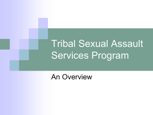 OVW - Tribal Sexual Assault Program Overview