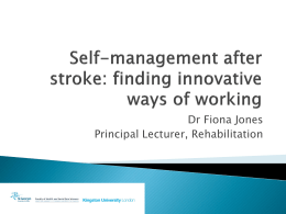 Self-management after stroke