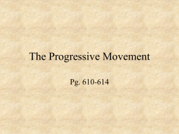 The Progressive Movement Power Point