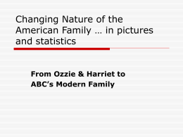 Changing Nature of the American Family