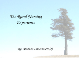 Rural Nursing Experience