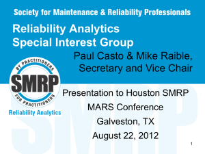 Reliability Analytics Special Interest Group {download now}