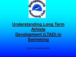 Understanding Long Term Athlete Development (LTAD) in Swimming