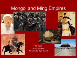 Mongol and Ming Empires - Forest Lake Area High School