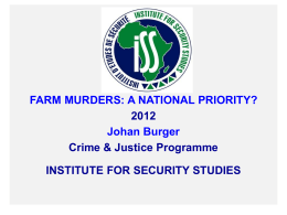 Farm murders: A national priority?