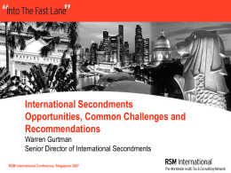 International Secondments