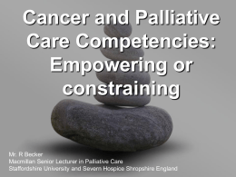 Cancer and Palliative Care Competencies