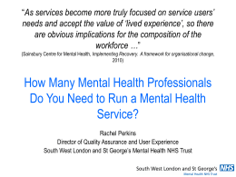How Many Mental Health Professionals Do You Need to Run a