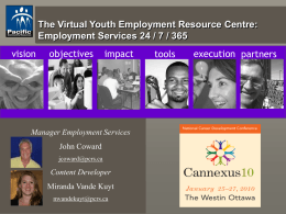 Virtual Youth Employment Resource Centre