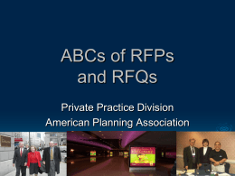 ABCs of RFPs and RFQs - American Planning Association