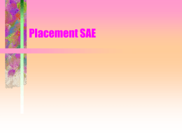 Placement SAE - Glen Rose FFA
