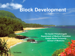 Block Development (Micro Curriculum)
