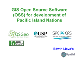 2_01_03_GIS Open Source Software (OSS) for PICs