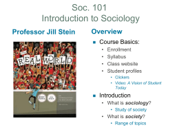 Essentials of Sociology Fourth Edition Chapter One
