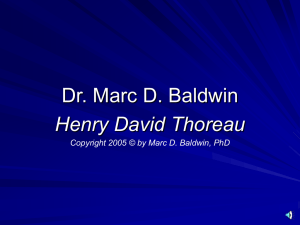 PPT - Marc D. Baldwin, PhD