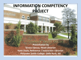 INFORMATION COMPETENCY PROJECT