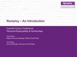 Remploy Personal Employability Presentation