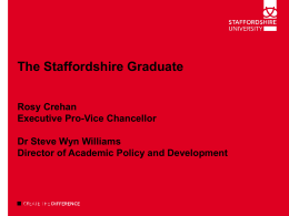 The Staffordshire Graduate Rosy Crehan, Executive