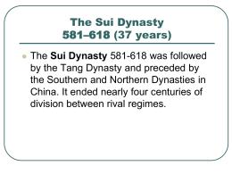 5.1_Sui Dynasty