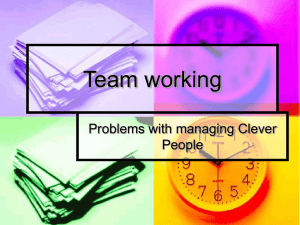 Team working