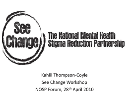 see change the national mental health stigma reduction partnership