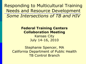 Presentation--Disparities and Cultural Competence in STD Programs