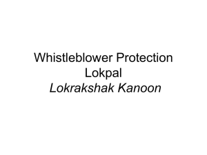 Whistleblower-Protection