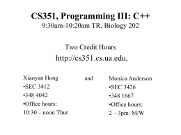 Introduction - CS351 Main Page