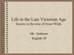 Life in the Victorian Age PPT