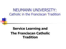 the franciscan intellectual tradition