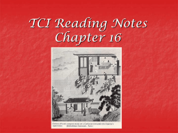 TCI Reading notes 16-17