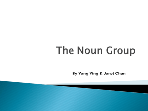 The Noun Group - Courseware - National University of Singapore