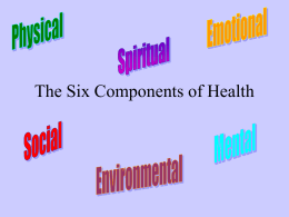 The Six Components of Health