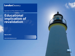 Educational Implications of Revalidation (Jan 2013)