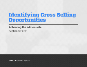 Identifying Cross Selling Opportunities
