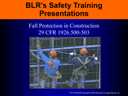 When Is Fall Protection Needed?