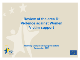 Violence against women _WG15Sept
