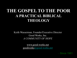 Practical Biblical theology on serving the poor3