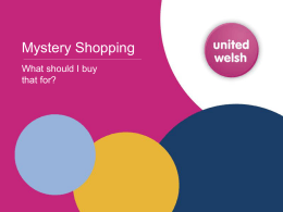 "How can ""mystery shopping"""