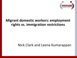 Background: migrant domestic workers