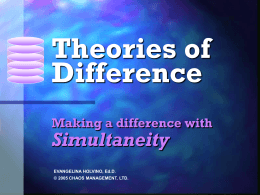 Theories of Difference