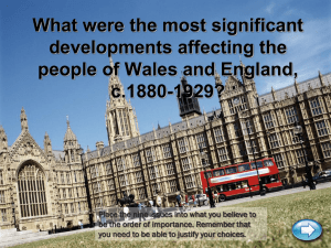 What were the main developments 1880-1929