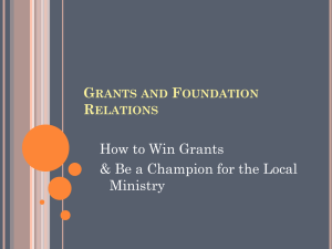 Committee Training Winning Grants