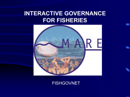 Fisheries Governance - MARE Centre for Maritime Research