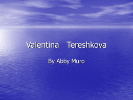 Valentina Tereshkova - Central Point School District Blog-o