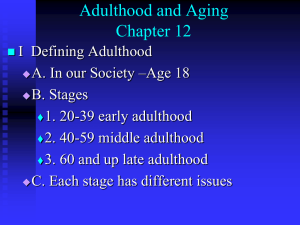 Adulthood and Aging Chapter 12