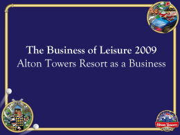 Alton Towers Resort Company values - NW 14-19