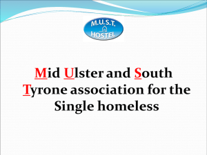 M.U.S.T. HOSTEL - council homeless ni