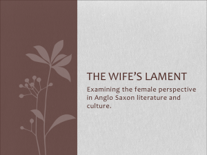 The wife`s lament - Misterambrose.com